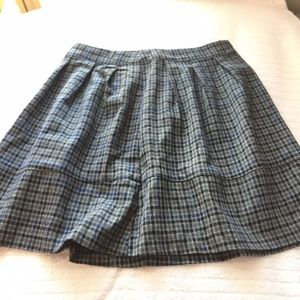 Grunge Plaid Skirt
